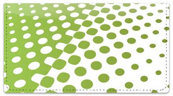 Green Halftone Checkbook Cover