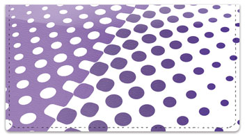 Purple Halftone Checkbook Cover
