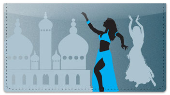 Belly Dancing Checkbook Cover
