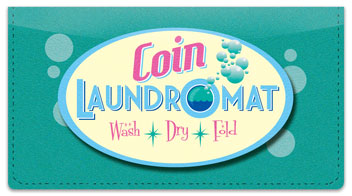 Laundromat Checkbook Cover