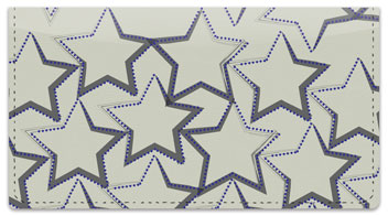 Star Pattern Checkbook Cover
