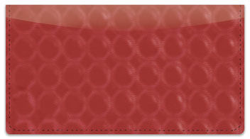 Red Bubble Pattern Checkbook Cover