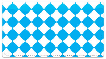 Aqua Blue Bead Checkbook Cover