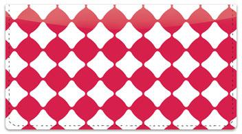 Magenta Bead Checkbook Cover