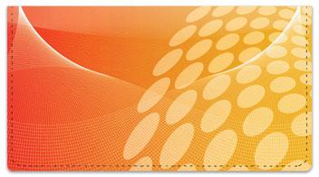 Orange Contempo Checkbook Cover