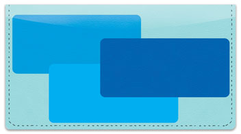 Blue Rectangle Checkbook Cover