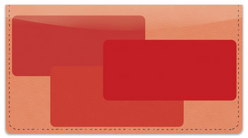 Red Rectangle Checkbook Cover