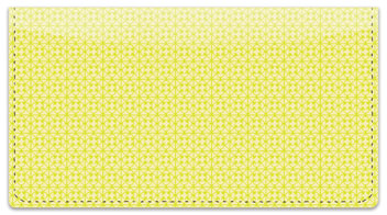 Yellow Box Scroll Checkbook Cover