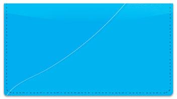 Blue Curve Checkbook Cover