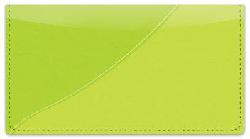 Green Curve Checkbook Cover