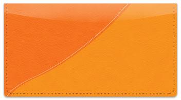 Orange Curve Checkbook Cover