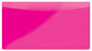 Pink Curve Checkbook Cover