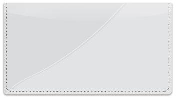Silver Curve Checkbook Cover