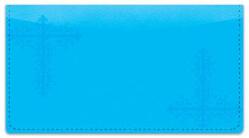 Blue Corner Scroll Checkbook Cover