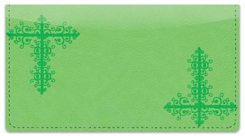 Green Corner Scroll Checkbook Cover