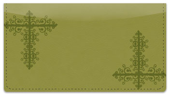 Gold Corner Scroll Checkbook Cover