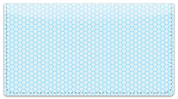 Blue Honeycomb Checkbook Cover