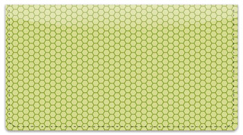 Green Honeycomb Checkbook Cover