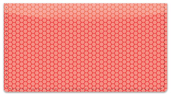 Red Honeycomb Checkbook Cover