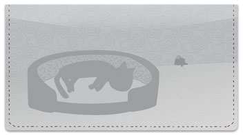 Nocturnal Kitty Checkbook Cover