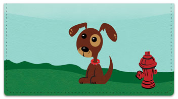 Perky Puppy Checkbook Cover