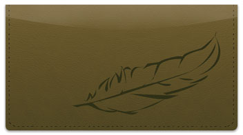 Feather Checkbook Cover