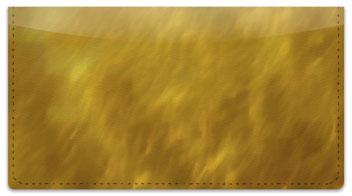 Golden Light Wave Checkbook Cover