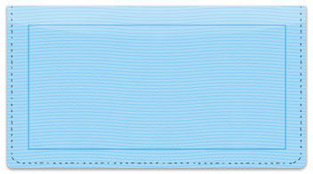 Blue Safety Checkbook Cover