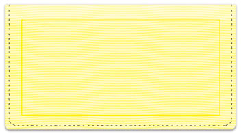 Yellow Safety Checkbook Cover