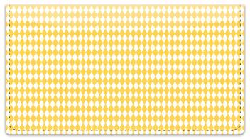 Yellow Diamond Checkbook Cover