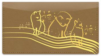 Cat Sketch Checkbook Cover