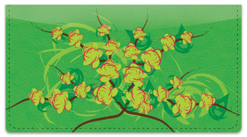 Gardenia Checkbook Cover