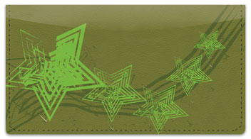 Retro Star Checkbook Cover