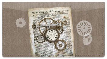 Steampunk Checkbook Cover