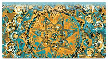 Ornamental Star Checkbook Cover