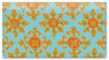 Floral Fabric Checkbook Cover