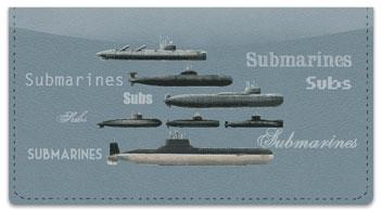 Submarine Checkbook Cover