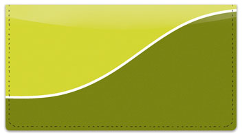 Green Graceful Line Checkbook Cover