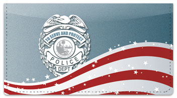 Police Force Checkbook Cover