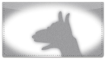 Hand Shadow Checkbook Cover