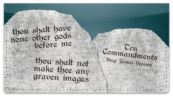 Ten Commandments Checkbook Cover