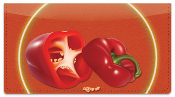 Spotlight Pepper Checkbook Cover