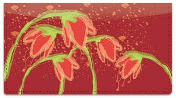 Droopy Tulip Checkbook Cover