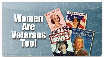 Woman Veteran Checkbook Cover