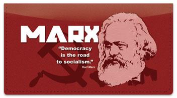 Karl Marx Checkbook Cover