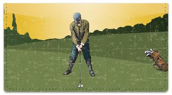 Vintage Golf Checkbook Cover