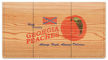 Wooden Crate Advertising Checkbook Cover
