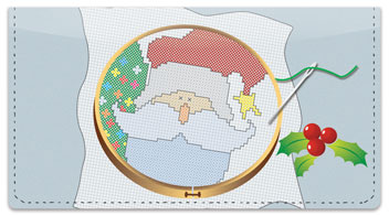 Christmas Cross Stitch Checkbook Cover