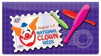 National Clown Week Checkbook Cover