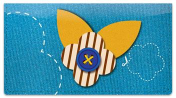 Button Flower Checkbook Cover